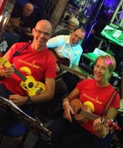 Igloo Ukulele Band rehearsal